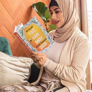 book mockup featuring a middle aged woman reading at home 32403 1